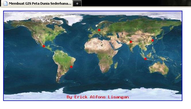 Apabila Anda mengklik pada titik lokasi yang terdapat pada peta, maka